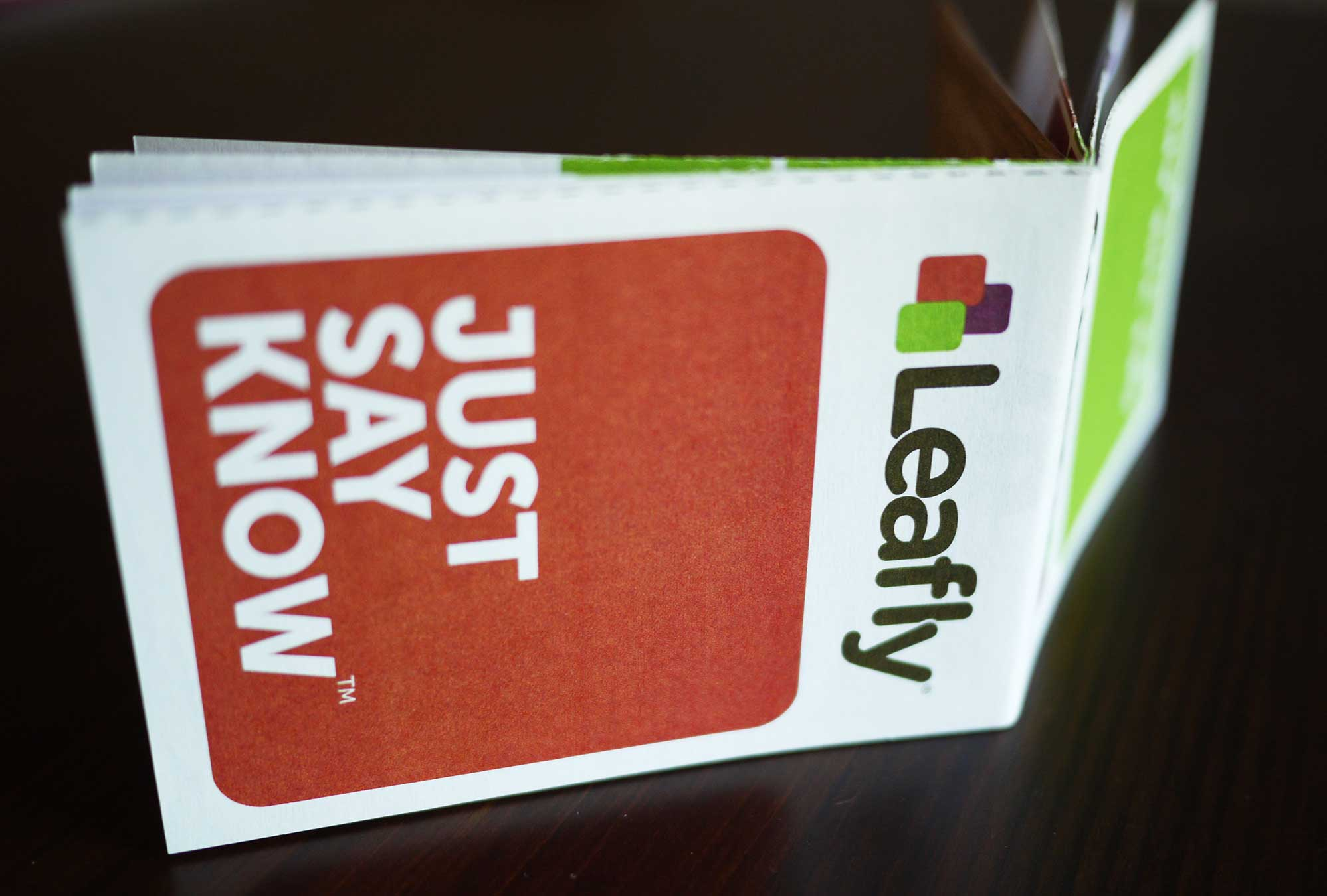 image of Leafly Just Say Know print design