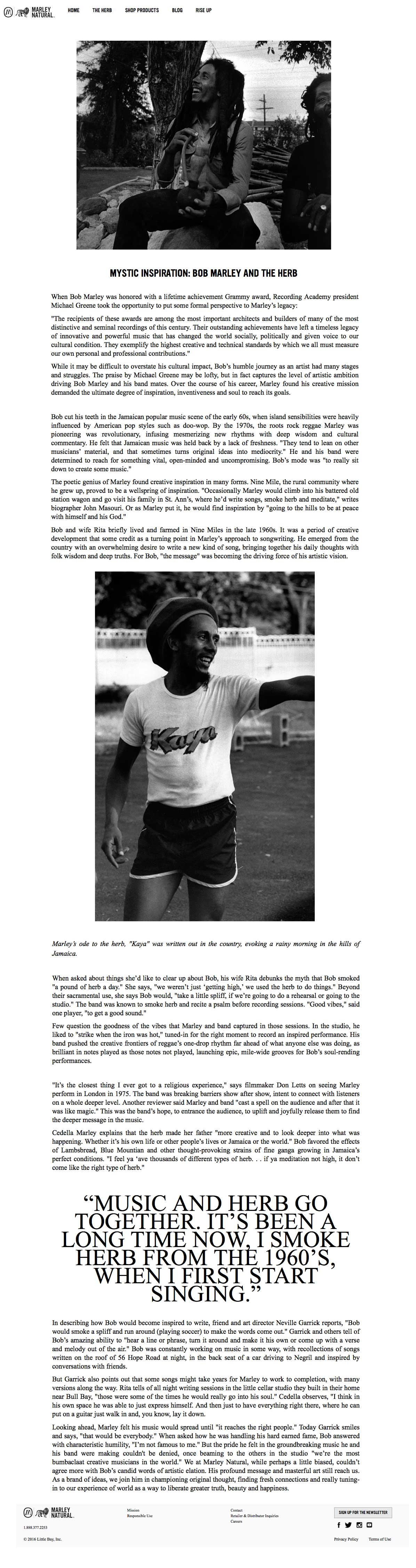image of news article about Bob Marley