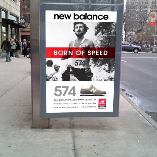 New Balance outdoor ad
