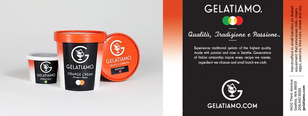 image of Gelatiamo packages and design