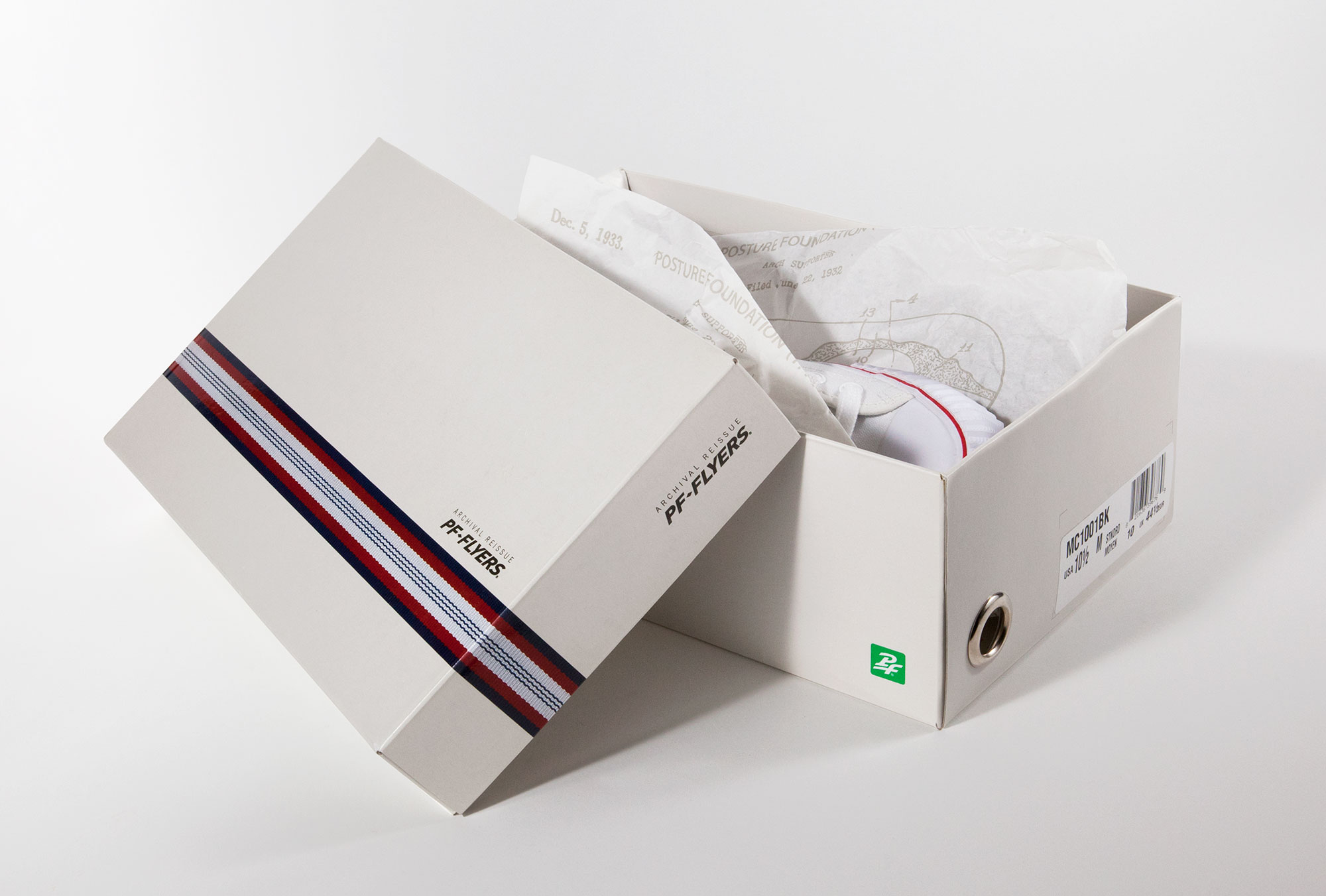 image of PF Flyers shoe box
