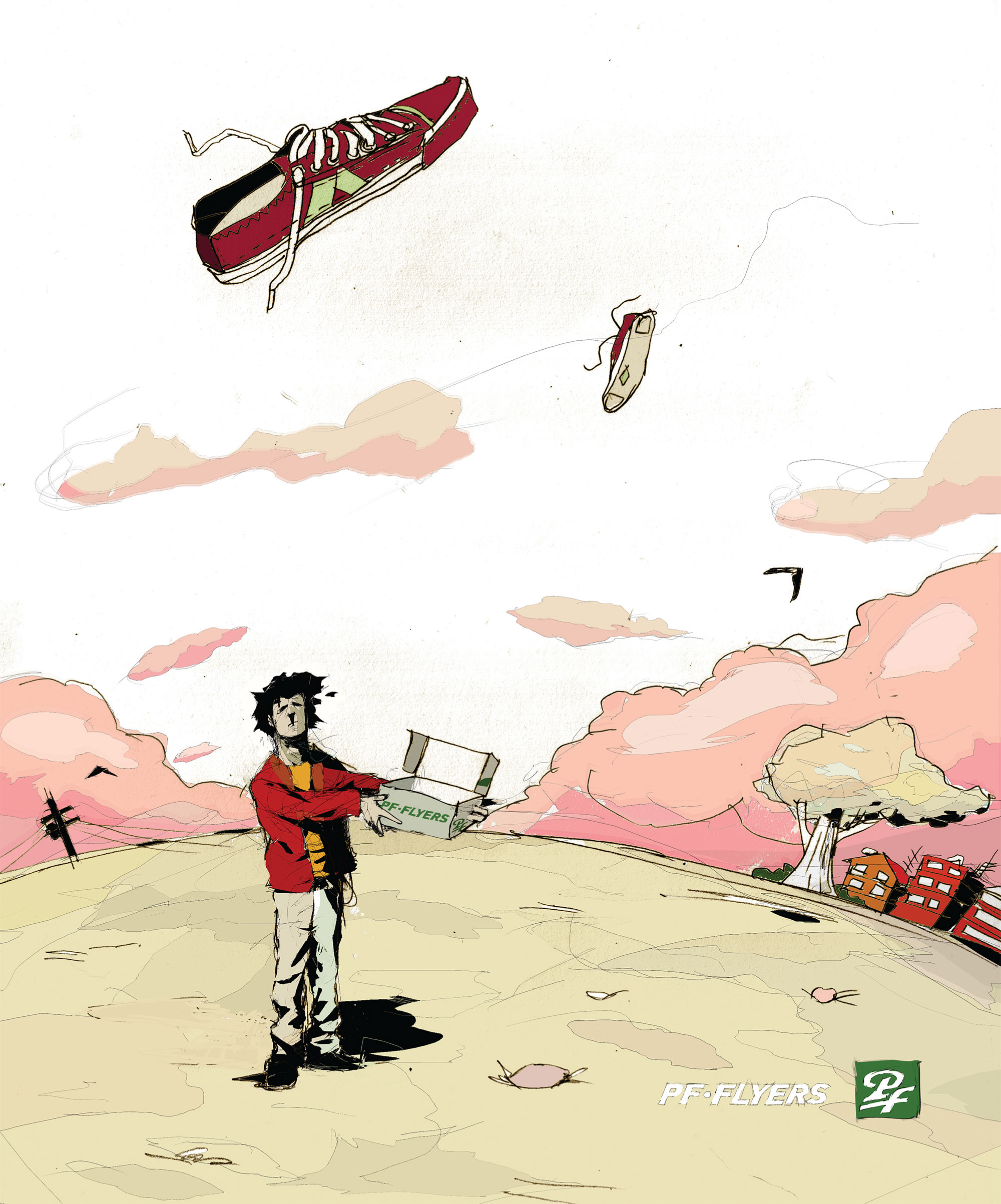 image of PF Flyers illustration ad