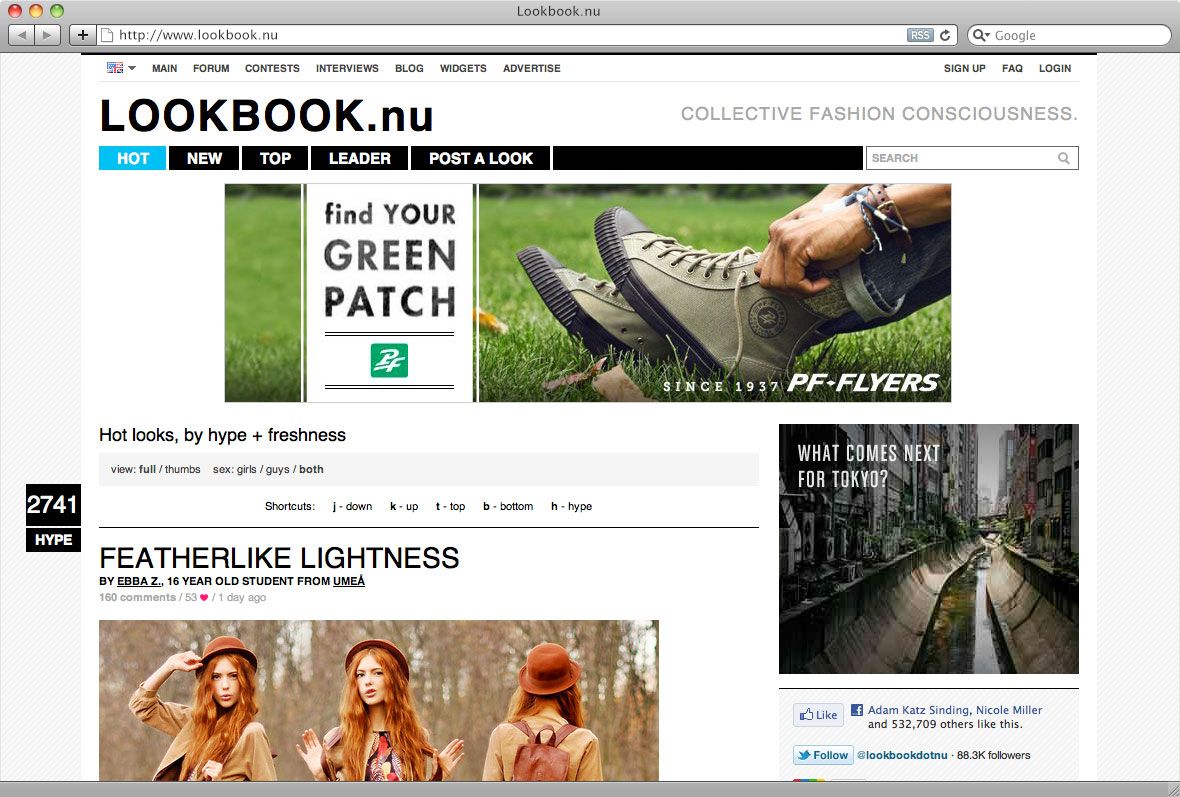 image of PF Flyers website banner ad