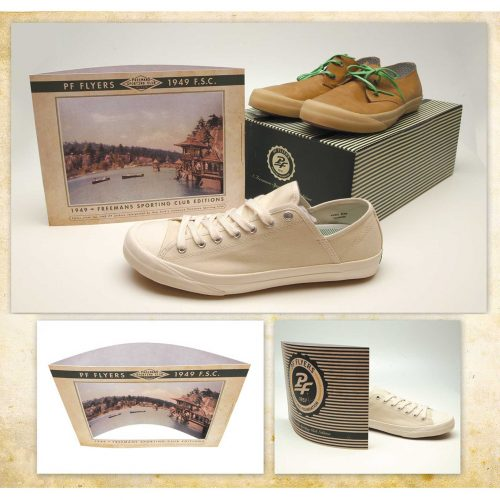 image of PF Flyers shoes and packaging