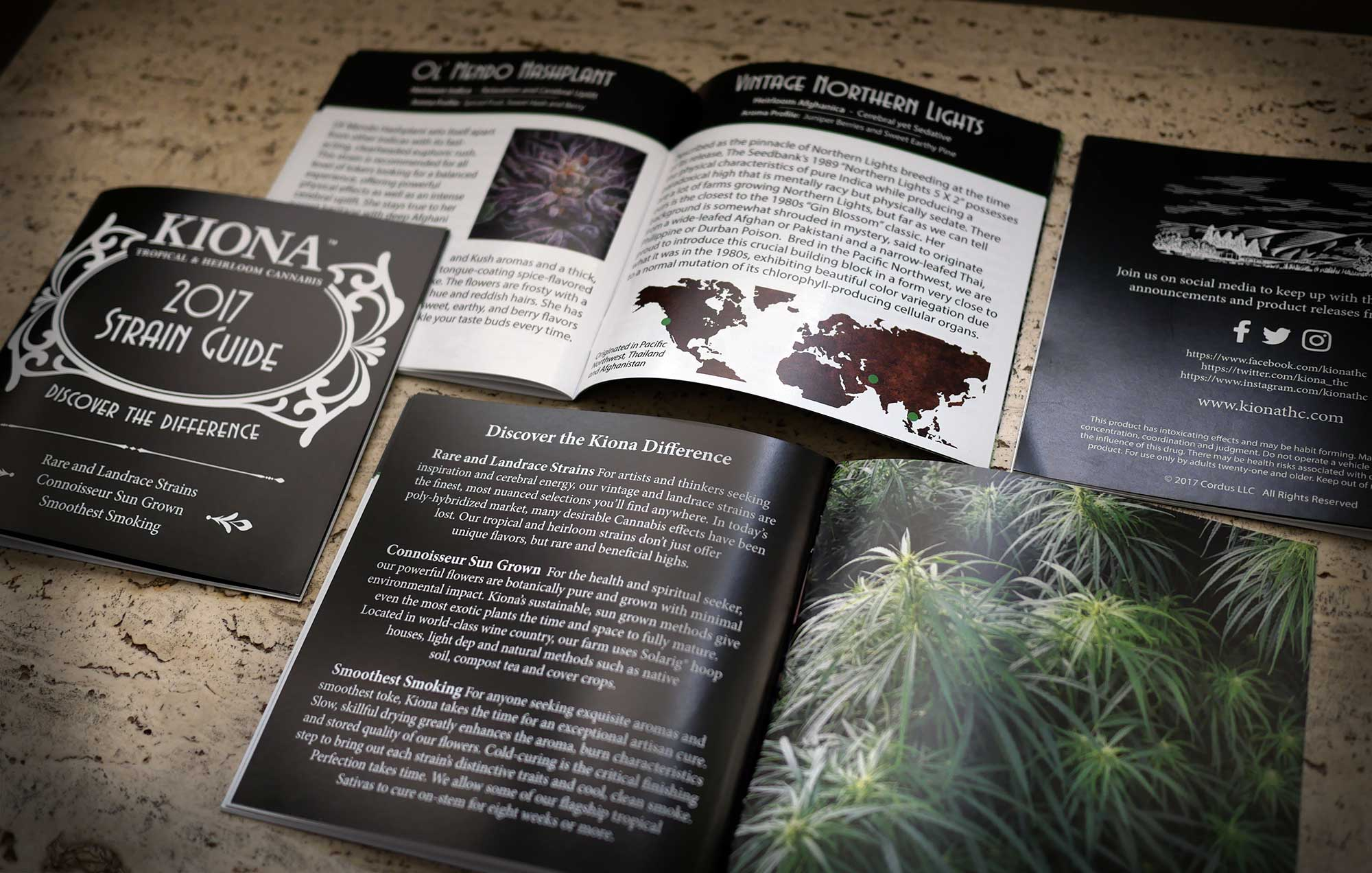 image of Kiona strain guide pages