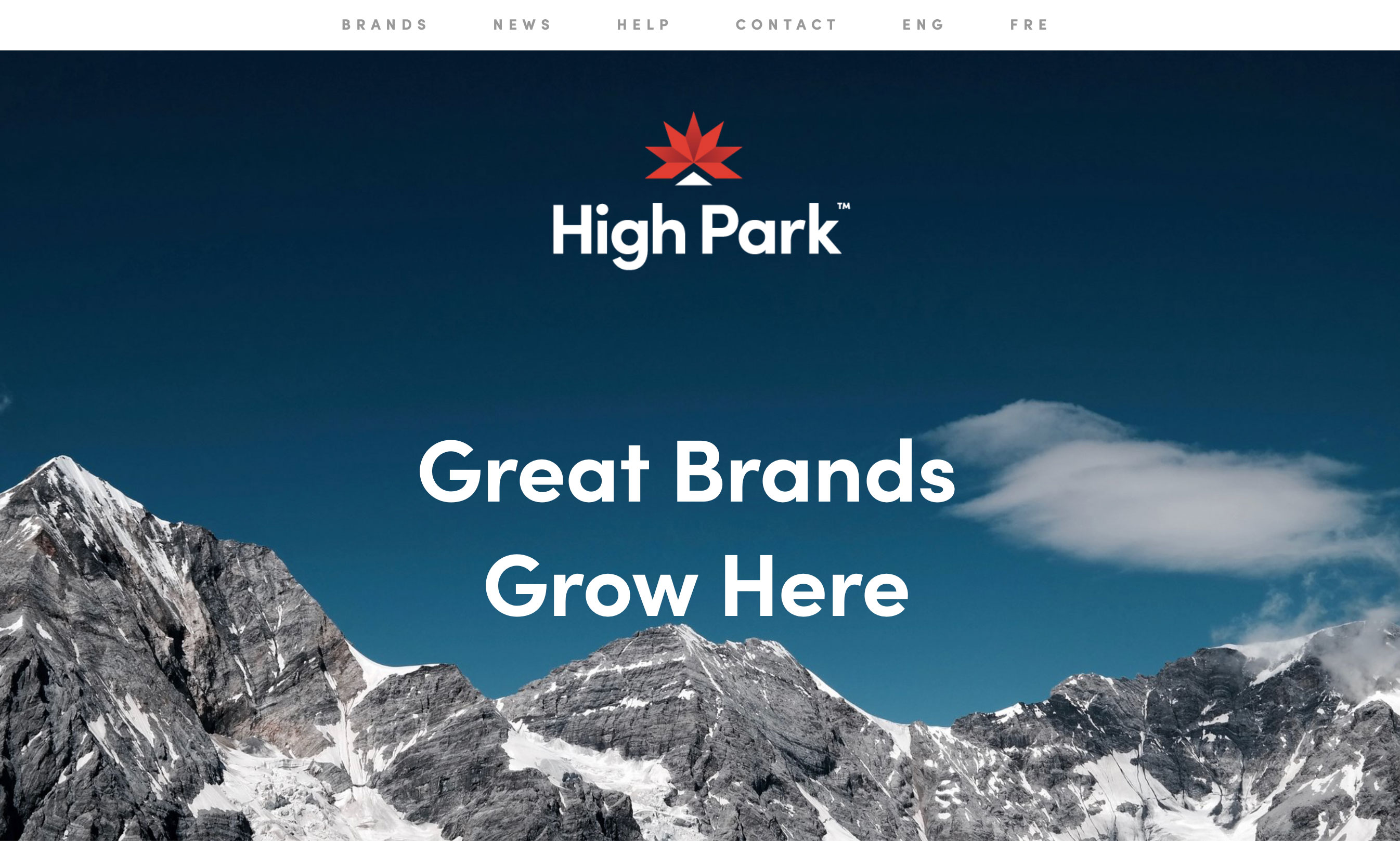 image of High Park website home page