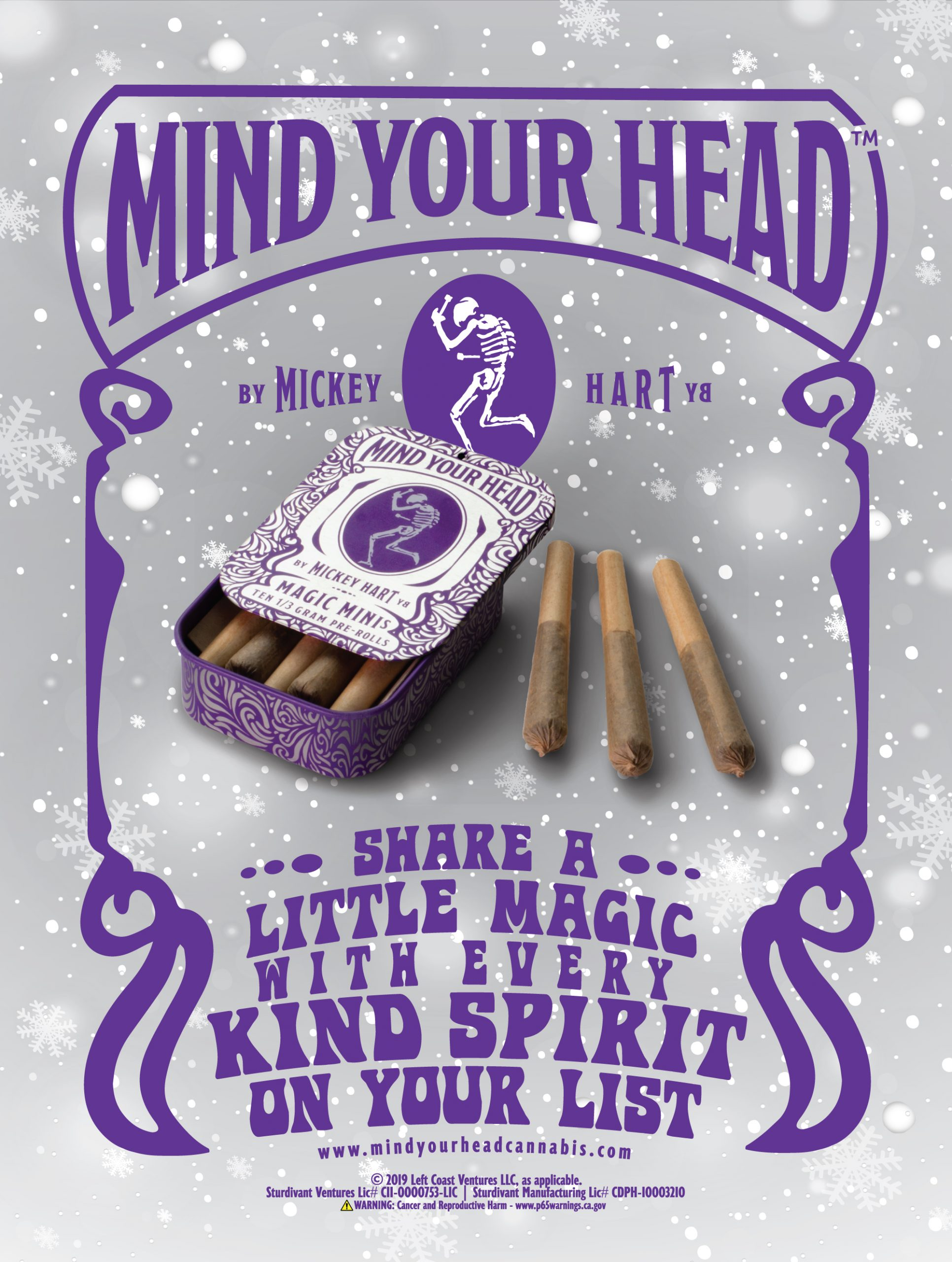 image of holiday print ad for Mind Your Head product